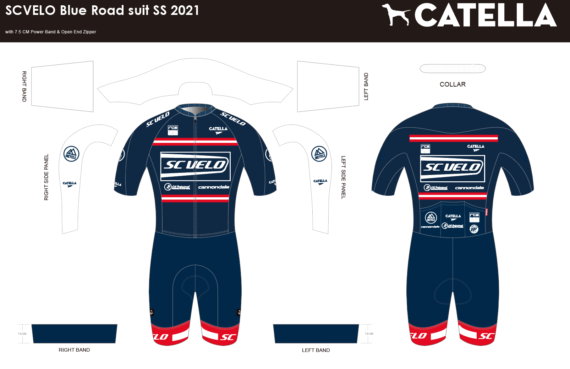 Sc Velo Blue 2021 SS Road suit